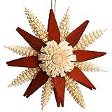 Stern Baumbehang - Christbaumschmuck – Weihnachtsbaumschmuck – Holz – Seiffen – Erzgebirge - Durchmesser 7 cm – NEU