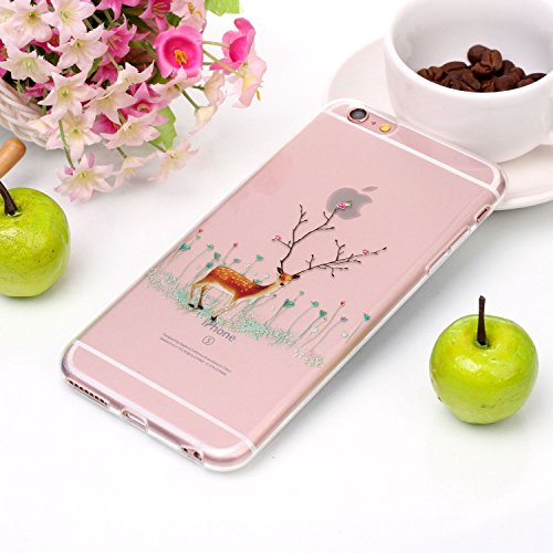 Custodia per Apple iPhone 6 / 6S , IJIA Trasparente Adorabile Babbo Natale TPU Silicone Morbido Protettivo Shell Coperchio Caso Bumper Protettiva Case Cover per Apple iPhone 6 / 6S (4.7) YH82