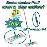 Leifheit - Bodenwischer Profi Teleskopstiel micro duo collect
