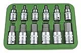 JBM 51260 - Pack de 12 piezas de punta hexagonal (1/2')