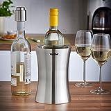 VonShef Weinkuehler Edelstahl doppelwandiger Weinkühler Kühler Halter