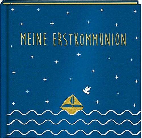 Eintragalbum - Meine Erstkommunion - Satin blau