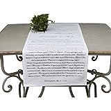 Weihnachtlicher Tischläufer / Tischdecke weiß 45 x 145 cm