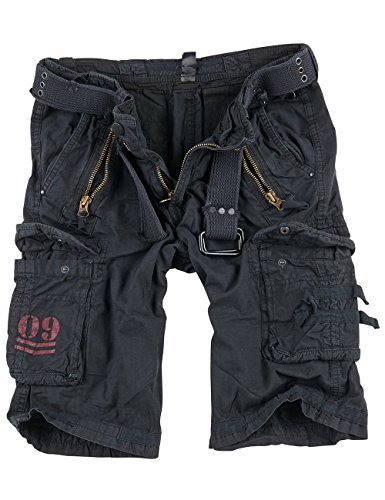 Surplus Royal Herren Cargo Shorts, royalblack, Größe 6XL