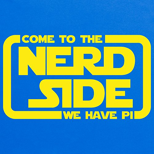 Come To The Nerd Side T-Shirt, Herren Royalblau