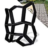 wolketon pavimento stampi fai da te lastricato stampo cemento Stampo per lastricato stampi pietra Riutilizzabile vialetti giardino Parcheggio Patio 43 x 43 x 4 cm
