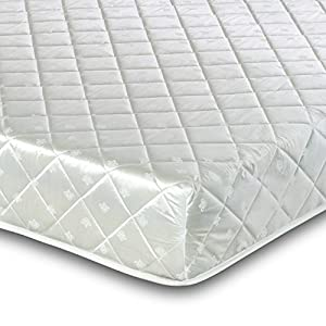 Visco Therapy Memory Foam Coil Sprung Mattress with Taped Edge, White, Single Deluxe, 20 cm Deep