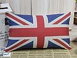 ewfsef UK Flagge Union Jack Sherlock Holmes Film Requisiten Kissen Sofa Stuhl, Sitzkissenbezug (50cm * 30cm)