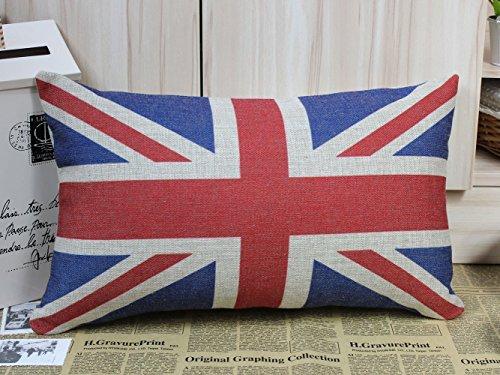ewfsef UK Flagge Union Jack Sherlock Holmes Film Requisiten Kissen Sofa Stuhl, Sitzkissenbezug (50cm * 30cm) (Jack Union Sofa)
