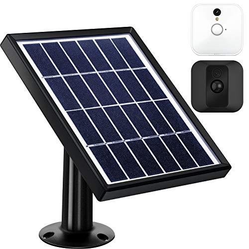 Pannello Solare Compatibile con Blink XT Interno/Esterno Telecamera di Sicurezza con Un Supporto Regolabile, 12 Piedi/ 3.6 m Cavo, Alimentazione Continuamente con Pannello Solare (Nero)