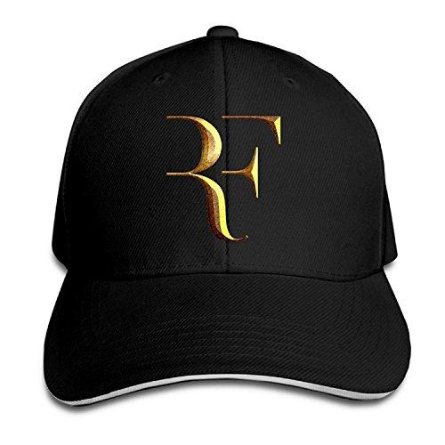 Biotio Professional Tennis Player Roger Federer Logo Sandwich Peaked Baseball Caps/Hats Adjustable For Unisex
