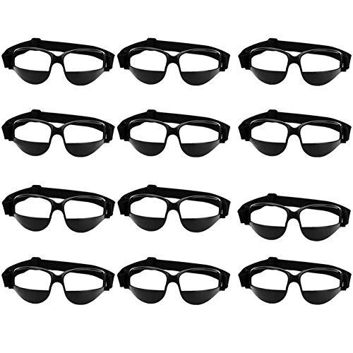 fussball sportbrille AUTOECHO Basketball Sport Ansicht Anti-Blocking Training Sportbrille Brille für Radfahren Basketball Fußball Hockey Rugby Sonnenbrille mit Verstellbaren Riemen (1 STÜCKE/3 STÜCKE/6 STÜCKE/12 STÜCKE)