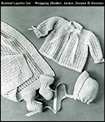 KNITTED INFANT'S LAYETTE SET - 4 Vintage Baby Knitting Patterns: Wrapping Blanket, Jacket, Bonnet & Bootees (Quick-Knit Baby Book Book 728)