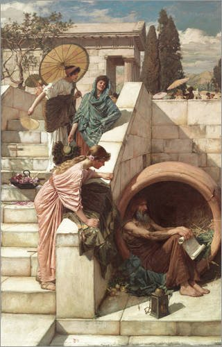 Alu Dibond 80 x 130 cm: Diogenes von John William Waterhouse / ARTOTHEK