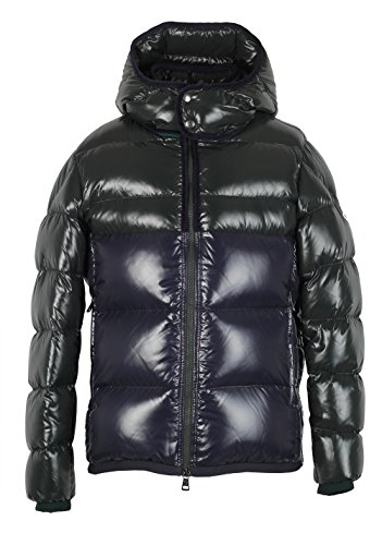 CL - Moncler Blue Green Harry Quilted Down Jacket Coat d'occasion  Livré partout en Belgique