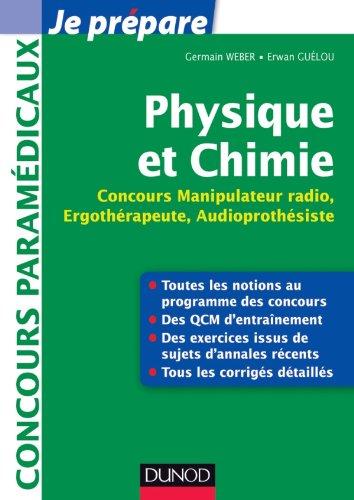 Physique et Chimie - Concours Manipulateur radio, Ergothérapeute, Audioprothésiste