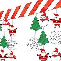 Amscan International - Decorazioni natalizie da appendere, motivi: pupazzo di neve e Babbo Natale