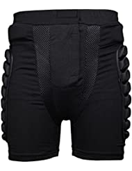 Latinaric Protector acolchado pantalones cortos cadera piernas equipo de protección para patinaje snowboard deportes al aire libre, small