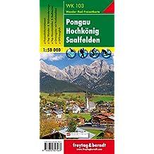 Pongau - Hochkönig - Saalfelden, Wanderkarte 1:50.000, WK 103, freytag & berndt Wander-Rad-Freizeitkarten