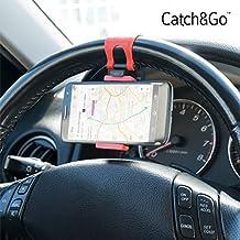 PWR Motor Catch & Go - Soporte de móvil para el volante del coche