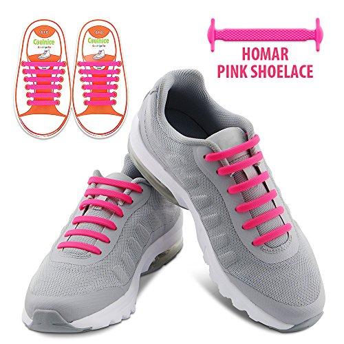 5d79452b84 Homar sin corbata Cordones de zapatos para niños y adultos Impermeables  cordones de zapatos de atletismo atlética de silicona elástico plano con  multicolor ...