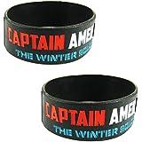 Eshoppee Captain America Designer Wrist Band Bracelet For Man And Women Set Of 2 Pcs. (Captain America 2)