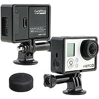 micros2u - Soporte con carcasa protectora para GoPro Hero 3 (White, Silver y Black Edition), peso ligero