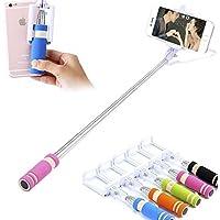 MESE London Selfie Stick (Senza Batterie) In Alluminio Con Vano Per Il Telefono Regolabile, Grip E Scatto Wireless Integrato / Bottone (Rosa)