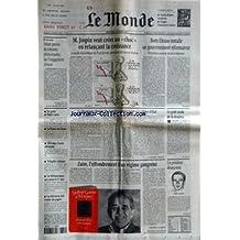 MONDE (LE) [No 16219] du 19/03/1997 - M. JOSPIN VEUT CREER UN CHOC EN RELANCANT LA CROISSANCE - BORIS ELTSINE INSTALLE UN GOUVERNEMENT REFORMATEUR - DOUZE PAROLES DE CINEASTES PETITIONNAIRES SUR L'ENGAGEMENT CITOYEN - UN GESTE DE FIDEL CASTRO - LA FRANCE DU FRONT - OPA DANS L'ACIER ALLEMAND - VOLAPUK CULINAIRE - LES BRITANNIQUES AUX URNES LE 1ER MAI - LA TELEVISION FAIT VENDRE DU PAPIER - LA ROUMANIE CHERCHE DES FAMILLES ADOPTIVES POUR SES COCHONS D'ETAT PAR CHRISTOPHE CHATELOT - LE GOUT