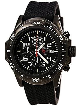 Armourlite AL43 Chronograph Watch Black-Green - Rubber
