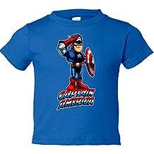 Camiseta niño Capitán América saludo