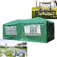 Cenador plegable de 3x 6m de HG® para jardín de PVC, plegable, impermeable, verde