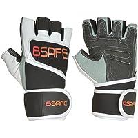 BSAFE Pure Leder-Handschuhe Gewichtheben Gym Neopren Handgelenk-Bandagen Bodybuilding Riemen, Fahrrad-Handschuh preisvergleich bei billige-tabletten.eu