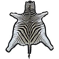 Zerimar Tapis peau de zèbre africaine race burchel Mesures: 240x200 cms 100% naturel Parfait pour la décoration