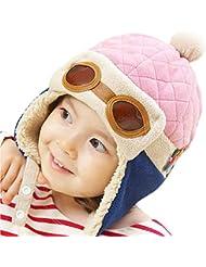 CHIC-CHIC Garçons Fille Bébé Hiver Chaud Cap Chapeau Bonnet Aviateur Pilote Crochet Earflap Chapeaux Déguisement