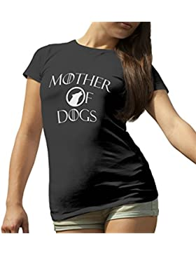 Mother of Dogs Game of Thrones Funny Logo T-Shirt Camiseta Para la Mujer
