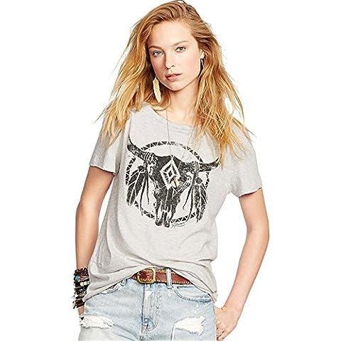 Native American Indian Bull Head Totem T-shirt Tee Maglietta Top