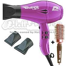 Secador de pelo Parlux Advance iónico y cerámico, color morado con cepillo gratis