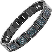 Magnetisches Armband Titan Karbonfaser blau verstellbar von Willis Judd preisvergleich bei billige-tabletten.eu