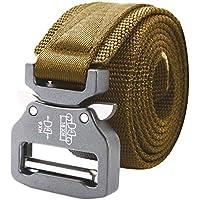 AIZESI Herren tactical belt Military Gürtel 125cm Nylon Stil Non Slip schwere Schnalle Gürtel für die Arbeit Wandern im Freien Gürtel Wandern StoffGürtel Outdoor