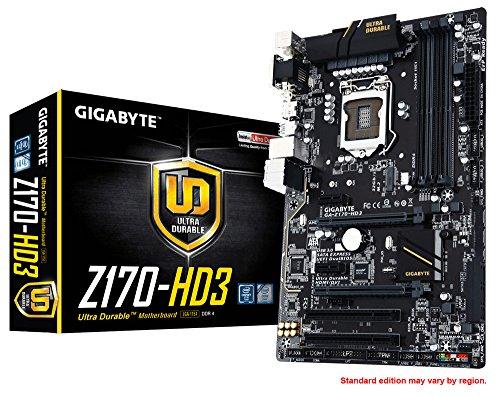 Gigabyte GA-Z170-HD3 ATX S.1151 Scheda Madre, Nero