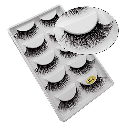 5 Paare 3D Falsche Wimpern Natürlich Dick Falsch Fälschung Wimpern Auge Wimpern Erweiterung Makeup (G704)