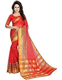 Vatsla Enterprise Women's Cotton Saree With Blouse Piece(VPYSHVTSREDSAREE_RED_COLOUR)