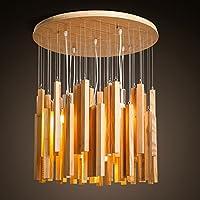 LLYY-Lampadario in legno di legno nordico moderno minimalista in legno personalità creativa giapponese minimalista Terrace Bay finestra wind chimes 600 * 705mm ,