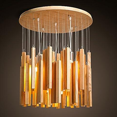 SSBY Lustre en bois de style minimaliste moderne nordique personnalité créatrice minimaliste japonais Terrace Bay (Lanterna Muro Bay)