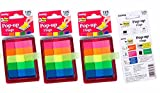 #9: Oddy Re-Stick Pop Up Flags, 12 x 45mm, 5 Colors, 125 Flags per Pack - 3 Packs
