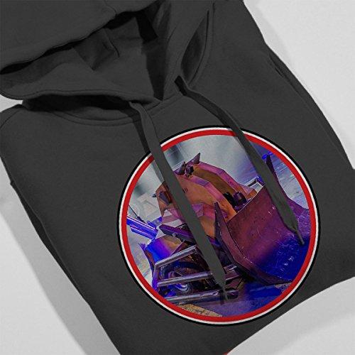 Robot Wars Shunt Retro Frame Women's Hooded Sweatshirt Charcoal