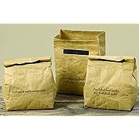 Boltze Filzkorb Flechtoptik Filz Tasche mit Holzgriff beige 50cm