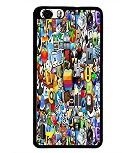 PrintDhaba Graffiti D-5512 Back Case Cover for HUAWEI HONOR 6 (Multi-Coloured)