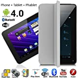 """InDigi 7"""" Android 4.4 Phablet Tablet Pc + GSM 3g Smartphone Dual-Sim WiFi Bluetooth Smart Cover - At&T T-Mobil E-"""